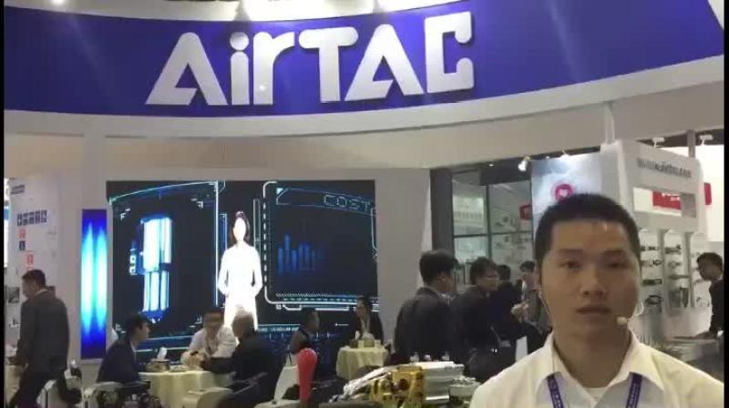 IAS2017:亚德客(中国)有限公司市场专员万朋飞先生展台产品介绍
