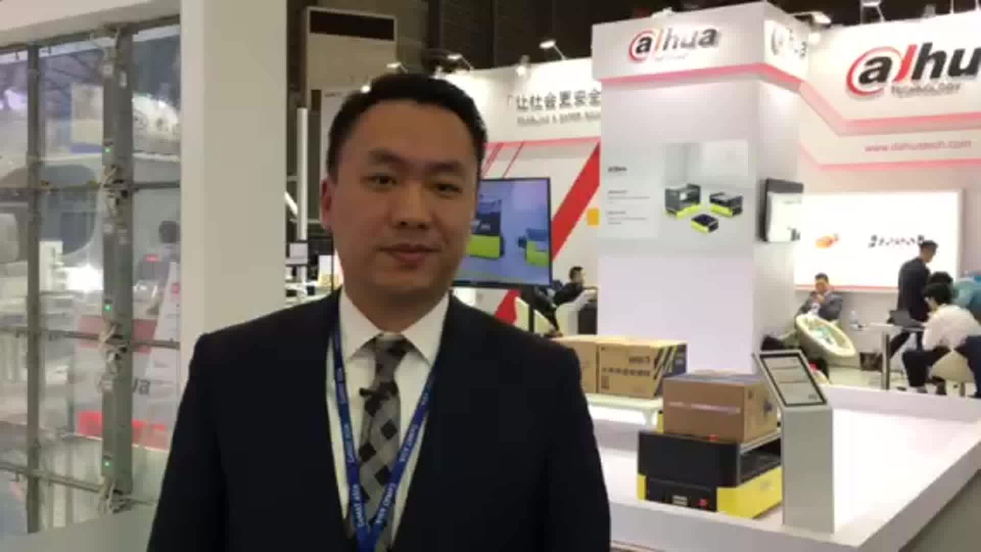 安吉物流展台介绍:安吉智能物联技术首席执行官 金宾先生